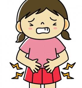 生理痛の女の子