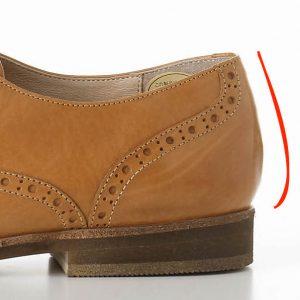 靴カウンターのカーブ
